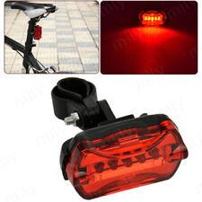 6 Mode 5 LED Tail Rear Safety Warning Flashing Bike Bicycle Flashlight Light