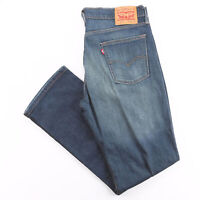 LEVI'S 514 Blue Denim Regular Straight Jeans Mens W35 L32