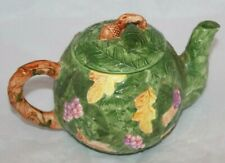 Midwest Importers of Cannon Falls Autumn Fall Teapot Green 00004000 /Orange