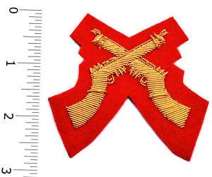 Crossed Rifle, Mess Dress, Badge Wire Bullion, LI-EMB-0104