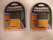 TWO 2X Batteries NB-2L NB-2LH BP-2L5 for Canon G7 G9 S30 S40 S45 S50 S60 S70
