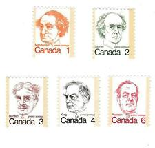 Stamps Canada Prime-Ministers UNCANCELLED Macdonald Laurier Borden King Pearson