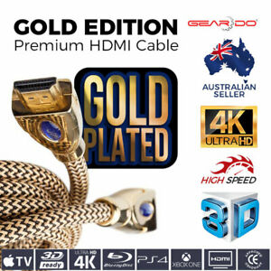Premium HDMI Cable 2.0 3D FULL HD 4K 1080p High Speed Ethernet EDI Gold Edition