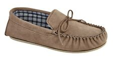 Mens  Leather Moccasin Full Slippers Mockers BRUCE Suede Classic Size 6 - 15 UK