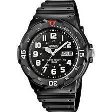 Casio MRW-200H-1BVEF Men's Sports Analogue Day & Date Watch Black Resin Strap