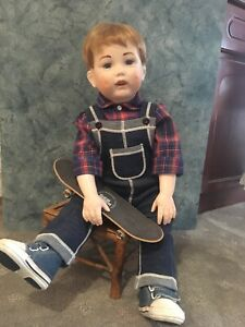 French Reproduction Antique Handmade Boy Doll