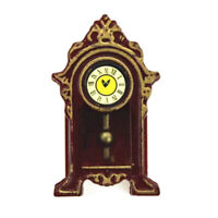 Miniature Wooden Clock Simple but Cute DOLLHOUSE 1:12 Scale Paper Face