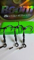 3 Ready Tied Ronnie Rigs ( Korda Spinner rig)  boom,  Teflon hooks, Carp Fishing