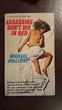 """Michael Avallone, Assassins Don't Die in Bed,"""" 1968, Signet P3689, VG+, 1st"""