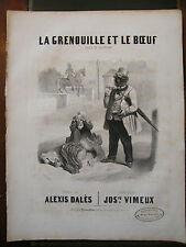 Partition Sheet Music 19 ème Siècle la grenouille et le boeuf Lafontaine