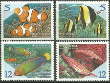 Taiwan - Fish the coral reef (II). Set mint 2006 Mi. 3148-3151