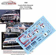 DECALS 1/24 REF 1540 LANCIA DELTA INTEGRALE SABY RALLYE TOUR DE CORSE 1990 RALLY