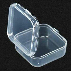 Mini Clear Plastic Small Box Hook Jewelry Earplugs Storage Container Case 10Pcs