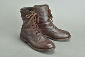 South African Army SADF 1980s Tan Leather Combat Boots. YJU