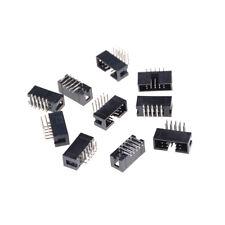 10Pcs Dc3-10P 2.54mm 2x5 Pin Right Angle Male Shrouded header Idc SocketVe