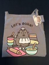 New Pusheen Tabby Cat Apron Let's Bake Gray Cooking Baking Kitchen Adjustable