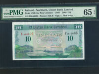 Northern Ireland:P-340,10 Pounds,2008 * Ulster Bank * PMG Gem UNC 65 EPQ *