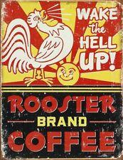 Tin Sign Kitchen Diner Pub Eat Food Hot Rod Retro Vintage Decor Metal Gas Garage