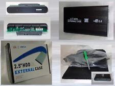 """Externes 2.5"""" SATA Gehäuse USB 2.0 Extern S-ATA ALU Case 1 TB fähig Black OVP"""