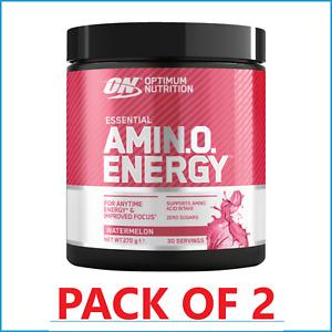 2 x ON Optimum Nutrition AmiNO Energy 270g Increased Energy Focus Muscle BCAA