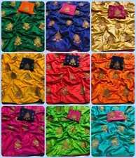 Sari Embroidery Elegant Designer Sana Silk Traditional Party wear Indian Saree