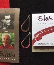 ED LEVIN Sterling Silver Drop Loop Hoop Earrings