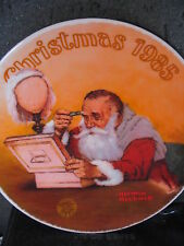 Knowles Rockwell 1985 Grandpa Plays Santa Annual Christmas Ltd Ed Plate Mib