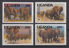 Uganda - Michel-Nr. 960-963 postfrisch/** (WWF Afrikanischer Elefant)