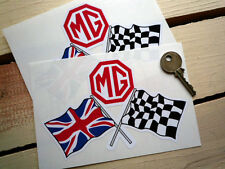 MG Crossed Flags A B C  ZT ZB ZX TF TA TC CAR STICKERS