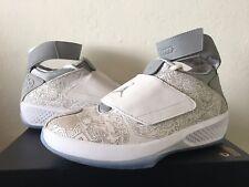 Nike Air Jordan XX 20 Basketball Laser White Metallic Silver 743991-100 Sz 9.5