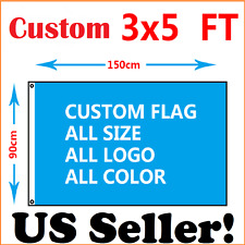 CUSTOM 3'x5' Full Color Single Sided Custom Flag Factory Direct~US Seller! SALE!