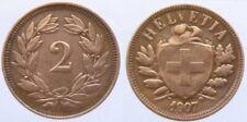 Schweiz 2  Rappen 1907B Bro (2)