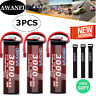 3x 3S 11.1V 3000mAh 50C LiPo Battery Deans for RC Car Truck Boat Drone Airplane
