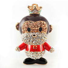 Year of the Monkey Crown Red Keychain Crystal Charm Cute Animal Purse Gift 01309