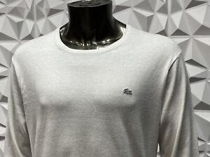 lacoste crew neck jumper XL