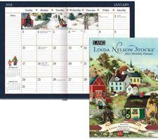 LINDA NELSON STOCKS - 2021 MONTHLY PLANNER CALENDAR - BRAND NEW - LANG ART 12100