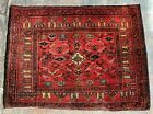 Authentic Hand Knotted Afghan Balouch Wool Area Rug 3 x 2 Ft (22250 HMN)