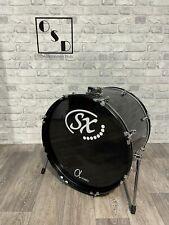 "More details for black bass drum 22""x16"" / drum hardware / kick drum"