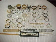 49 Bracelets, Huge Variety, Costume / Fashion Jewelry Lot