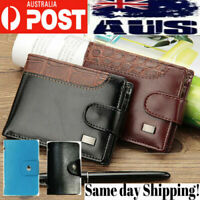 Mens womens leather wallet bifold purse credit card id holder Protection