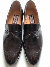 Men Star Artioli Brown Leather Loafers Shoes Sz 8 w/ Bally shoes bag Barneys Jil