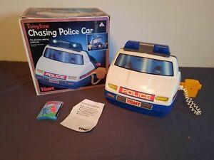 RACING COCKPIT TOMY CONSOLE POLICE CAR  VINTAGE 80's