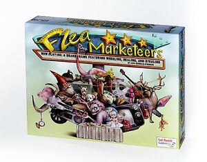 Two Games: Oh Gnome You Don't! Game & Flea Marketeers Board Game Combo Pack!