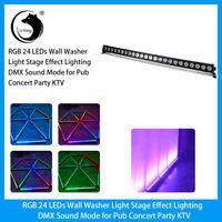 72W RGB Wall Washer Stage Lighting 24 LEDs Light Bar DMX512 DJ Party Disco Light
