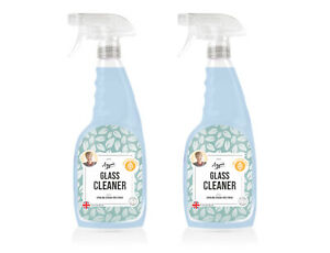 Glass Cleaner 2 x 750ml Aggie's Recyclable bottle Streak free finish