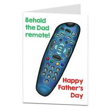 Funny Fathers Day Card Behold The Dad Remote Joke