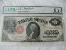 $1 1917 Legal Tender PMG 65 EPQ Gem Uncirculated
