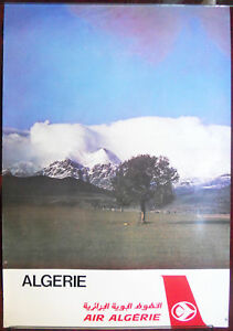Original Poster Air Algérie Algeria Landscape Travel Mountains Africa Airways