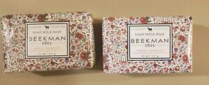 Lot of 2 Beekman 1802 goat milk soaps 9 oz each in honeyed grapefruit NEW