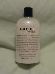 Philosophy 'Coconut Frosting' Shower Gel Bubble Bath 16oz Bottle NEW